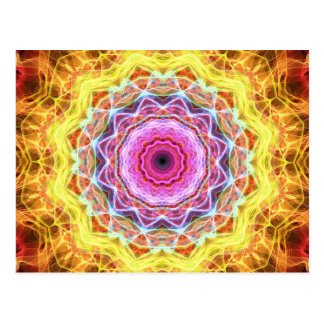 Pink Passion  kaleidoscope Postcard