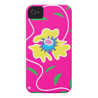 Pink Passion Vine Flower iPhone 4 Case-Mate Case