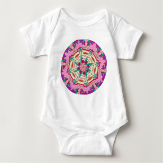 Pink Passionflower Baby Bodysuit