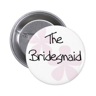 Pink Pastel Flowers Bridesmaid 6 Cm Round Badge