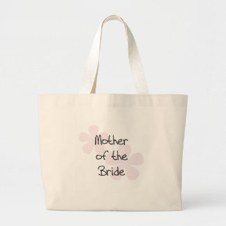 Pink Pastel Flowers Mother of Bride Large Tote Bag