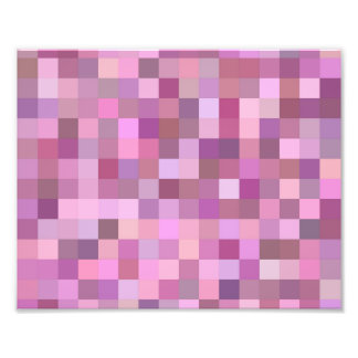 Pink pastel mosaic photo