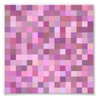 Pink pastel mosaic photo art