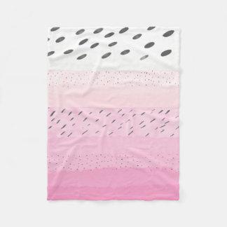 Pink Pastel Pitaya Fleece Blanket
