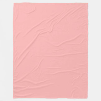 Pink Pastel Solid Colour Fleece Blanket