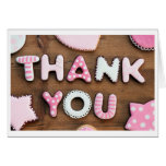 Pink Patch Thank You Stationery Note Card