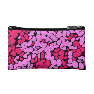 pink pattern cosmetic bag