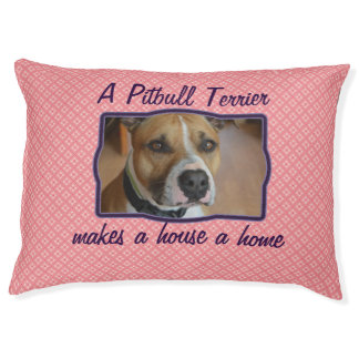 Pink pattern customized dog bed