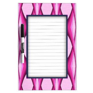 Pink Pattern Dry Erase Board