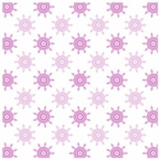 Pink Pattern. Fractal Circles. Cut Out