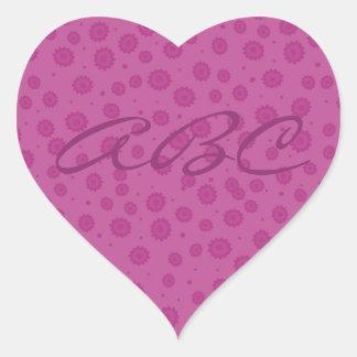 Pink Pattern Heart Sticker