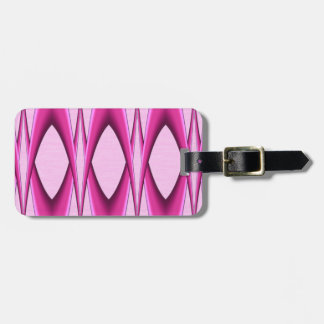 Pink Pattern Luggage Tag