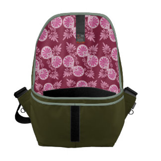 PINK PATTERN COURIER BAG