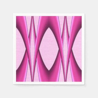 Pink Pattern Paper Serviettes