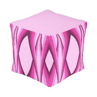 Pink Pattern Pouf