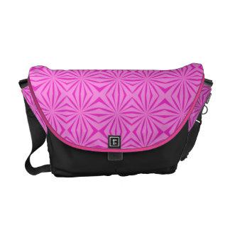 Pink Pattern Rickshaw Messenger Bag