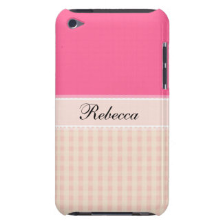 Pink Pattern with Monogram Case-Mate iPod Touch Barely There iPod Cases