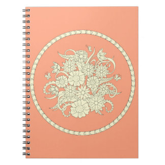 pink pattern with to summer bouquet into sends it notebook