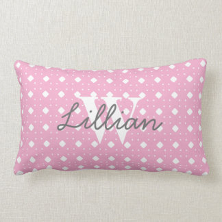 Pink Patterned Baby Girl Personalized Pillow