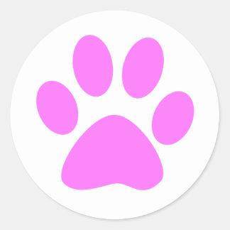 Pink Paw Classic Round Sticker