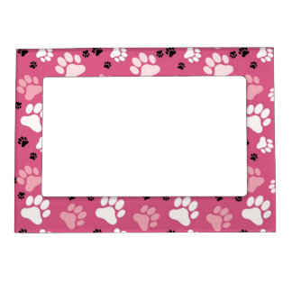 Pink Paw Print Magnetic Frame