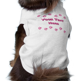 Pink Paw Prints With Name Shirt
