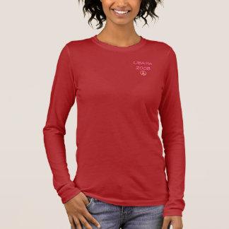 Pink Peace, Obama 2008 Long Sleeve T-Shirt