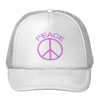 Pink Peace Sign Trucker Hat