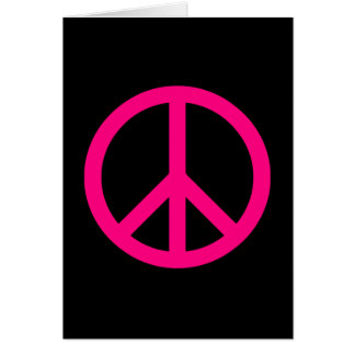 Pink Peace Sign Card