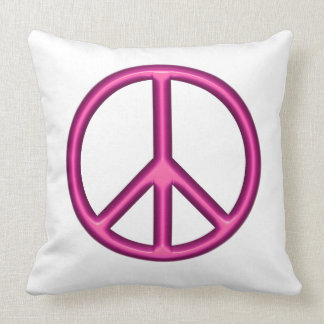 Pink Peace Sign Cushion