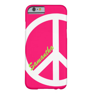 Pink Peace Sign iPhone 6 case