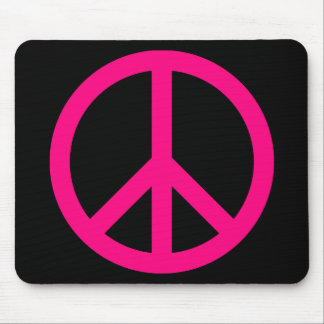 Pink Peace Sign Mousepad