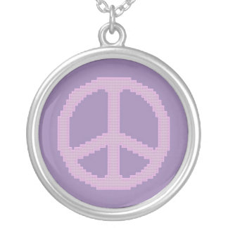 Pink Peace Sign Necklace