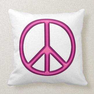 Pink Peace Symbol Cushion