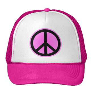 Pink Peace Symbol Hat