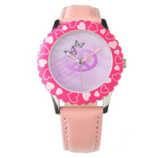 Pink Peace Wristwatches