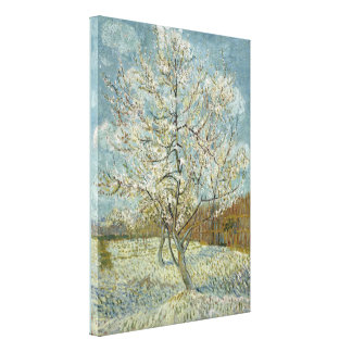 Pink Peach Tree by Vincent Van Gogh Stretched Canvas Prints