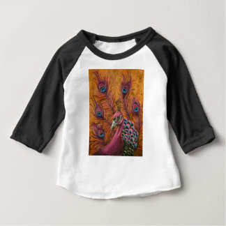 Pink Peacock Baby T-Shirt