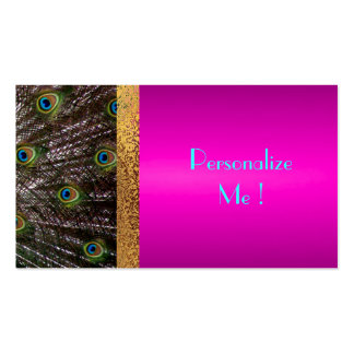 Pink Peacock Chic Trendy Girly / House-of-Grosch Pack Of Standard Business Cards