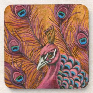 Pink Peacock Coaster