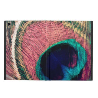 Pink Peacock Feather Chic iPad Air Cover