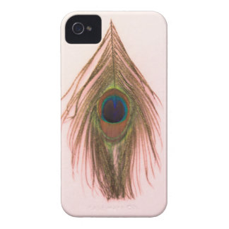 Pink Peacock Feather P iPhone 4 Cases