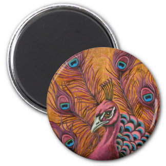 Pink Peacock Magnet
