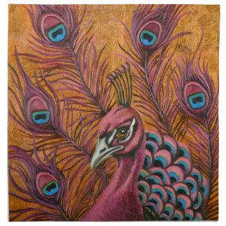 Pink Peacock Napkin