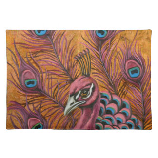 Pink Peacock Placemat