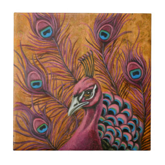 Pink Peacock Tile