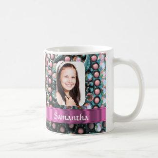 Pink pearl photo template mugs