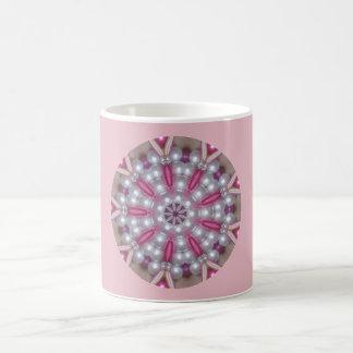 Pink Pearls Fractal Coffee Mug