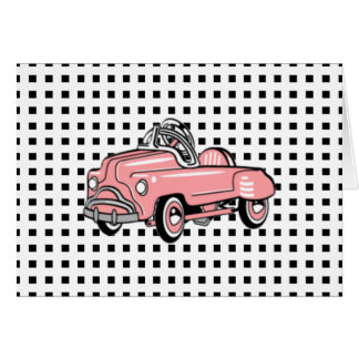 Pink Pedal Car (b. 1920, d. 1960) Greeting Card