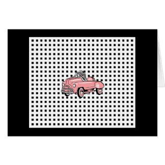 Pink Pedal Car Card (1920-1960)